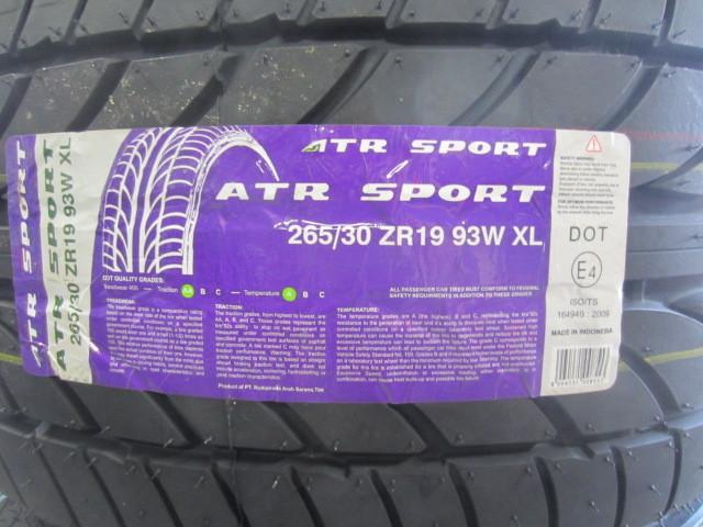オートウェイ取扱「ATRスポーツ」タイヤについて