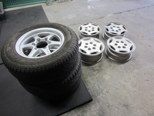 本日の持込タイヤ交換作業